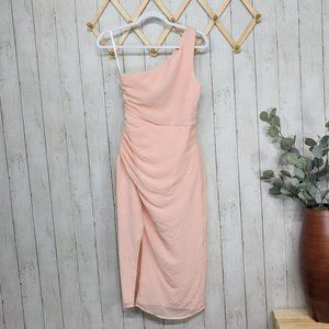 NBD Romina Midi Dress in Blush Nude